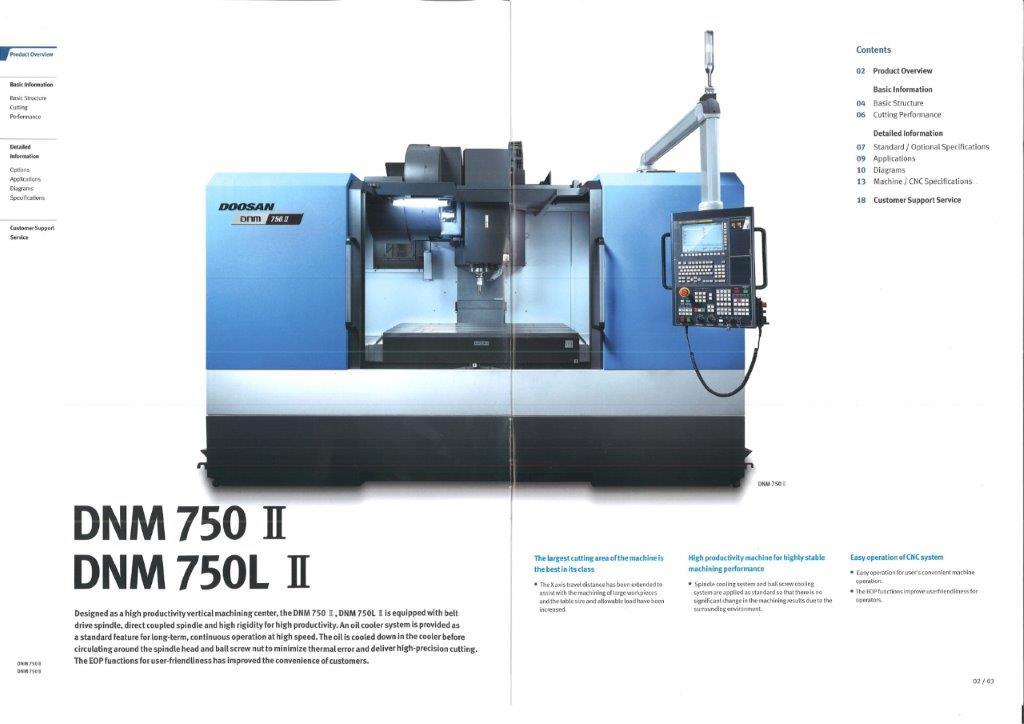 Doosan DNM 750LII machine