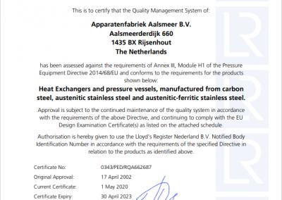 EG Conformiteitscertificaat module H1-2021